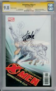 Astonishing X-Men #1 Directors Cut CGC 9.8 Signature Series Signed Stan Lee Marvel comic book